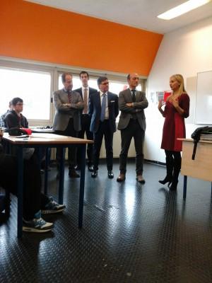 Il Presidente Vincenzi in visita presso la sede di Tradate