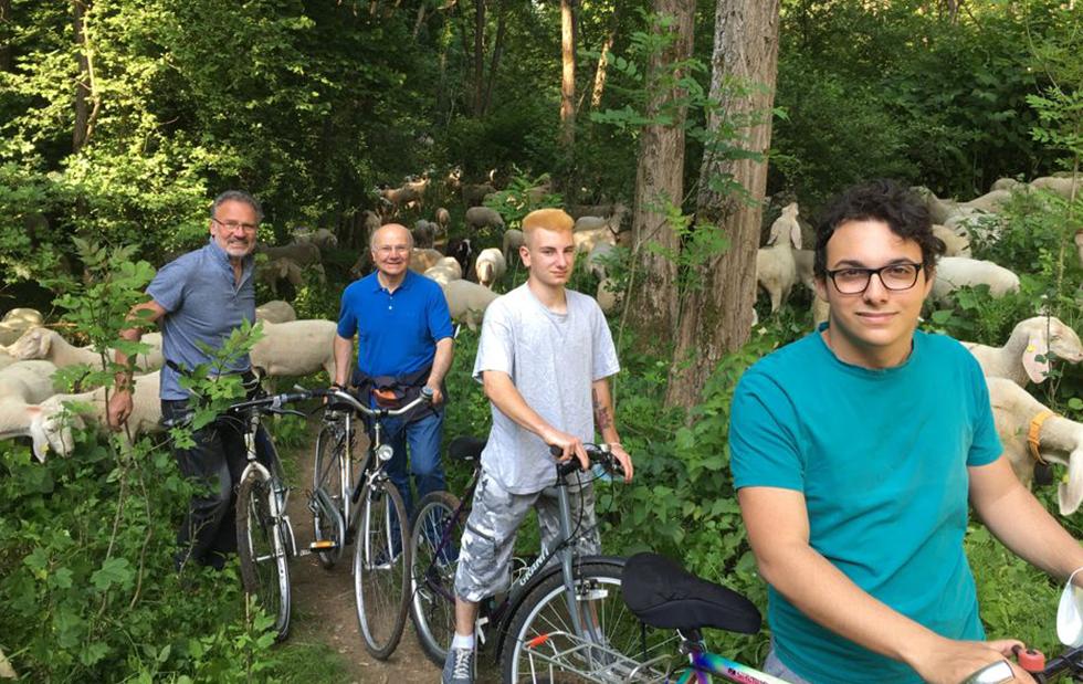 Gli allievi della ciclofficina in gita